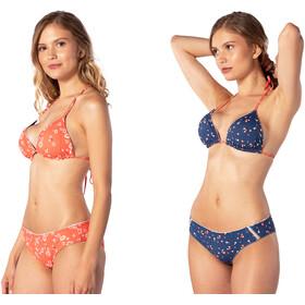 Rip Curl Beach Nomadic Revo Tri Bikini Top Kobiety, pomarańczowy/niebieski